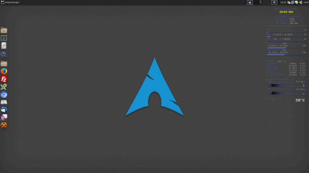 Arch Linux mit Xfce