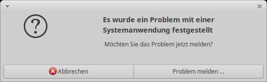 Problem mit einer Systemanwendung