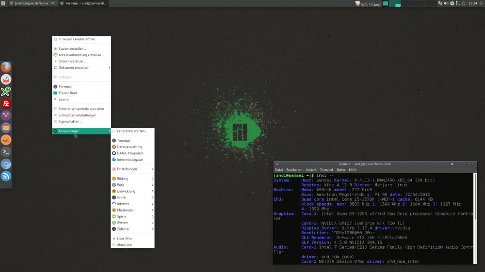 Linux Manjaro mit Xfce