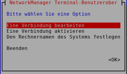 Networkmanager in der Konsole